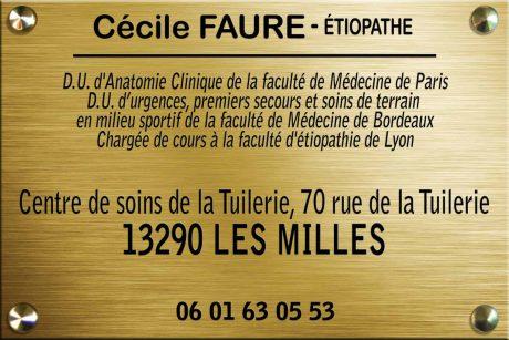 Cecile FAURE - Etiopathe Aix-en-Provence - Les Milles