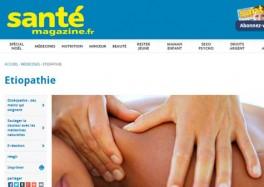 Santé Magazine - L'Etiopathie